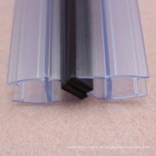 China liefern starke magnetische 180-Grad-Glastür Dichtleiste