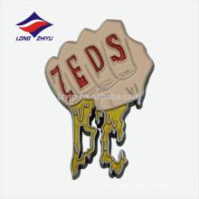 Wholesale unique hand art fighting logo metal badge