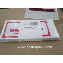 Japanese Market Packing List Envelope