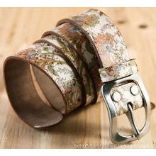 Genuine leathre belt custom printed leather belts