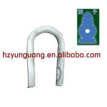 anel em forma de coração / fio de cara linhas aéreas montagem / cabo clamb
