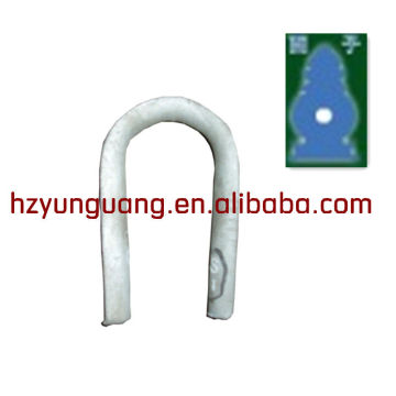 heart-shaped ring/guy wire overhead lines fitting/cable clamb