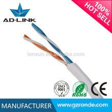 Melhor qualidade de par trançado 0,5 mm fio utp cat3 cabo