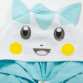 100% hot sell cartoon baby sleeping suit baby romper cotton short sleeve Pikachu hooded toddler romper