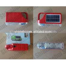 Plástico grande poder mão lâmpada emergência mini solar camping lanterna