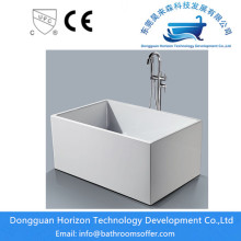 Seamless square bathrooms tubs freestanding tub