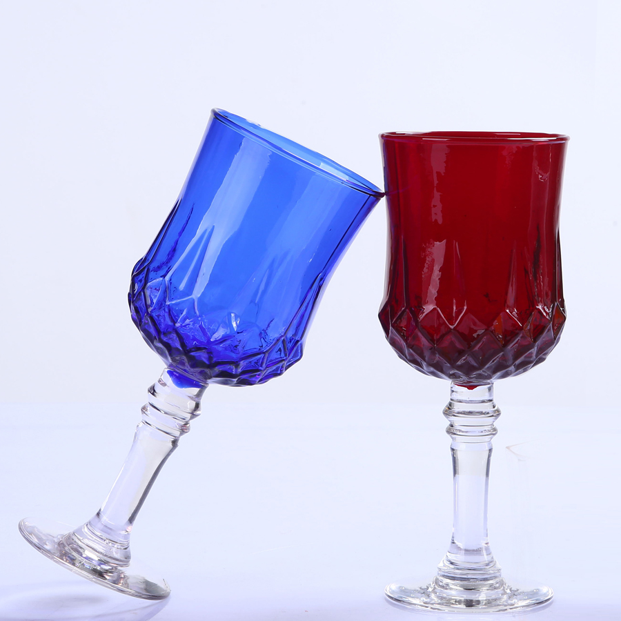 Br 9104 1handmade Colorful Glass Goblet Tumbler Cup Made Of Lead Free Crystal Glass