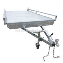 Hot dipped Galvanized cheap flat trailer for sale