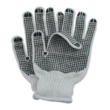 нано метр с обеих сторон ПВХ точками трикотажные поликоттон перчатки строительные