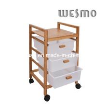 Banc de bain en bambou carbonisé (WRW0502A)