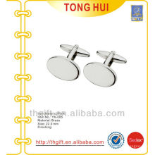The Oval/elliptic/elliptical/ellipse blank metal cufflinks for novelties