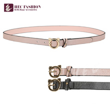 HEC OEM Custom Womens Fashion Simple Belts With Metal Ring