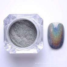 polvo de pigmento holográfico de uñas