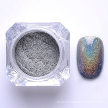 pó de pigmento holográfico de unhas