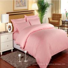 Hotel / Home Conjuntos de ropa de cama coloridos Satin Stripe en existencia (DPF1064)