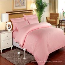 Гостиницы/дома красочные комплекты постельного белья Сатин в полоску на складе (DPF1064)