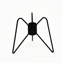 Iron Candle Holder Candlestick Metal Black Holders Candlelight Stand Dining Room Home Candles Display Rack