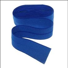 Economic folded elastic ribbon band roll