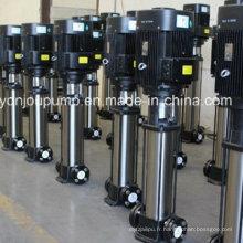 Pompes de surpression de pression de l'eau d'acier inoxydable, pompe multicellulaire intégrée verticale