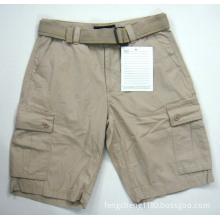 Man Basic Cargo Shorts With Belt (5-621)
