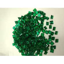 Laboratoire créé Emerald Square forme Stock pierres précieuses