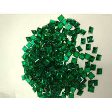 Laboratório criado Emerald Square forma estoque Gemstones