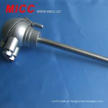 Sensor de termopar tipo MICC k com cabeça de proteção