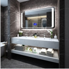 Современные зеркальные шкафы для хранения в ванной комнате с подсветкой