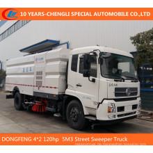 Dongfeng 4 * 2 120 HP 5 m3 Kehrmaschine