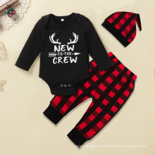 Newborn Baby Clothes Autumn One-Piece Baby Long Sleeves Letterprint Crawling Clothes