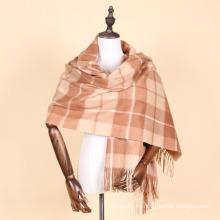 chal escocés de la cachemira de la calidad del cachemira del color de la tela escocesa del 100%