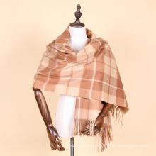 plaid color 100% cashmere quality scottish cashmere shawl