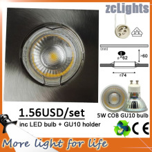 5W COB GU10 LED Down Light avec Spot Lamp