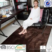 Tapete de vison impermeável sala tapete shaggy tapete longo pilha 100% poliéster máquina lavável tapete de entrada