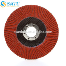 flat shape aluminum oxide flap disc for steel calcined and various metal