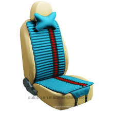 Linen and Velvet Car Seat Cover Double Sides Use-Blue