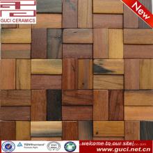 mixto azulejo de la mirada de madera sólida decoración de la pared del barroom mosaico