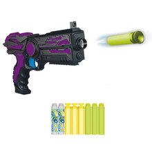 Electric 6PCS Bullet Load Launch Soft Bullet Pistol Toy Gun