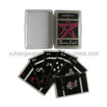 PVC transparente cartão de jogo, jogo de mesa