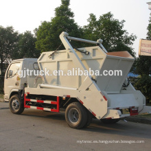 4X2 unidad 5cbm Dongfeng camión de basura de brazo oscilante / Dongfeng camión de basura pequeño / Dongfeng mini camión de basura / basura de Dongfeng swing