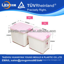 Caja de plástico baratos de almacenamiento de las cajas molde / volumen de la gran caja / cuadrado que contiene la caja con una tapa de moldeo por inyección / molde