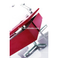 MT-07 table for executive red leather/PU cover executive table stainless steel frame MDF office table