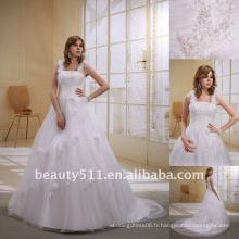 Bracelet à fleurs à la mode Astergarden Tulle A-ligne Robe de mariée Robe de mariée AS022