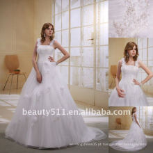 Astergarden Cor de moda da flor Tulle A linha de vestido de noiva vestido de noiva AS022