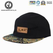Sombrero de camuflaje Snapback Paisley ajustable de gran gorra con logotipo de cuero