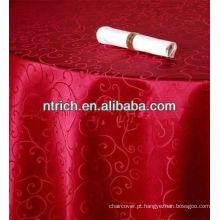 Pano de tabela do jacquard elegante para banquete, a toalha de mesa de tecido adamascado