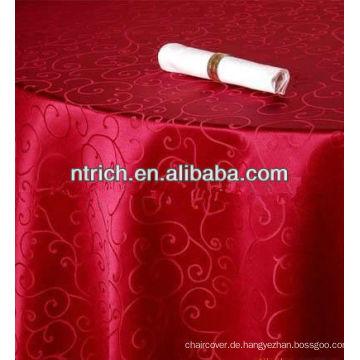 Elegante Jacquard-Tischdecke für Bankett, das Tischtuch Damast Stoff