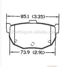 D464 58302-29A00 pour Hyundai Kia Nissan icer plaquette de frein