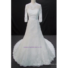 New Arrival Bridal Wedding Dress with Beading High Neck