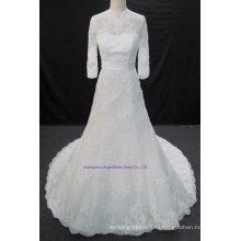 Новое Прибытие Свадебные свадебные платья с бисером высокая шея
